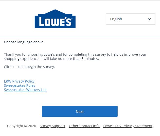 Lowes Customer Satisfaction Survey