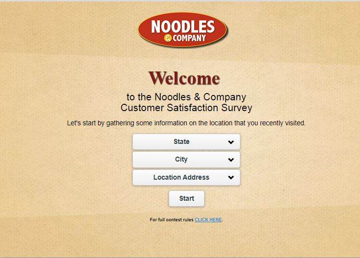Noodles & Company Guest Satisfaction Survey