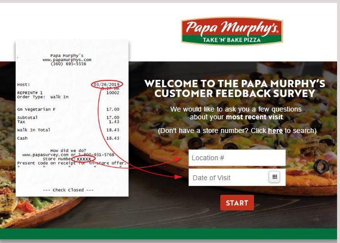 Papa Murphys survey