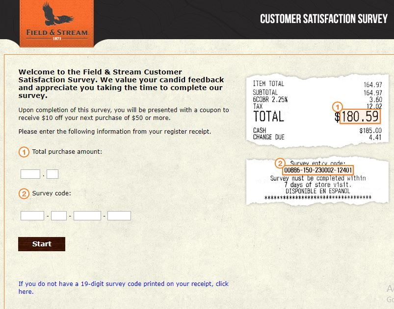 Field & Stream Customer Satisfaction Survey