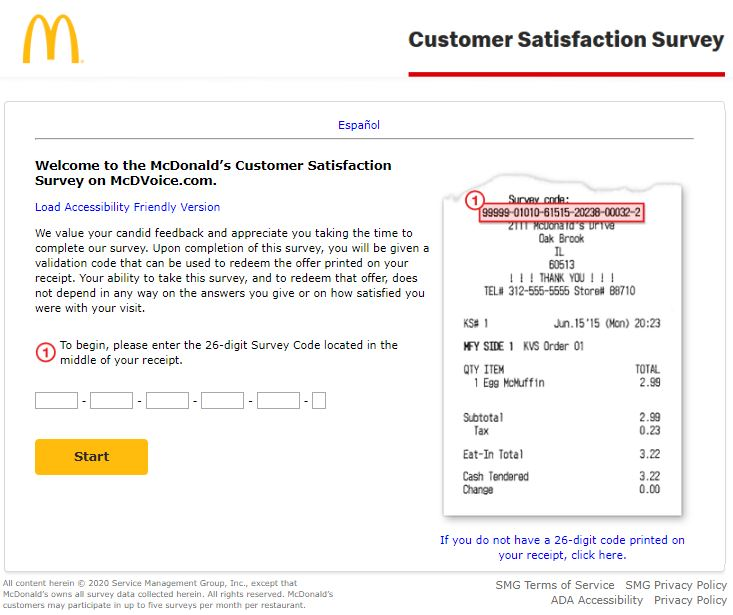 McDonalds Customer Satisfaction Survey