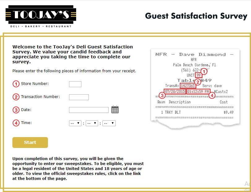 TooJay's Guest Satisfaction Survey